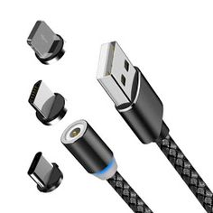 Armilo™ Magnetic Charging Cable - Magnetic Phone Cable for iPhone, Micro USB, Type C Cable Magnetic Charger Online Electronics Store, Target Deals, Usb, Charging Cable, Easy To Use, Iphone 4, Charger, Magnets, Container