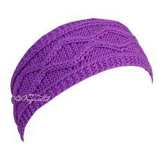 Diamond cable headband, free knit pattern