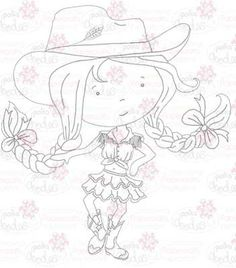 Cowgirl Digital Stamp by Nikky Hall