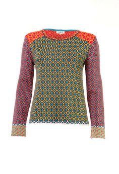 Pullover, Geometric Pattern - Pullover | Ivko Woman
