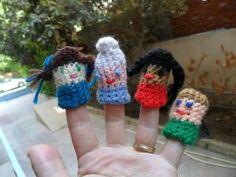 10 Finger Puppet FREE Crochet Patterns: Little People Finger Puppets Free Crochet Pattern