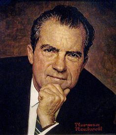 1968 - Pres. Nixon - by Norman Rockwell by x-ray delta one, via Flickr