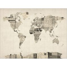 post cards world map