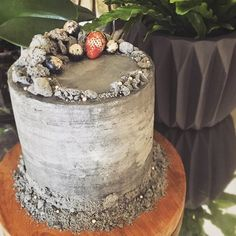 Here's what to do with your failed first and second attempts at #macarons ... Make like @poshlittlecakes and create some fancy cake decorations. This fabulous concrete rubble cake...ingenious and amazing