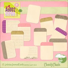 Freebie printable journaling cards... sized for Project Life