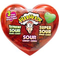 Warheads Sour Combo Candy Valentine's Day Variety Pack, 4.23 oz