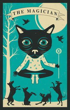 TAROT CARD CAT: THE MAGICIAN Art Print