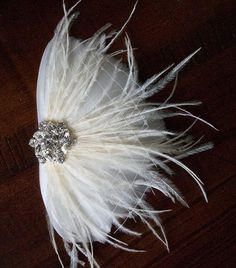 The Dottie - Feather Hair Fascinator
