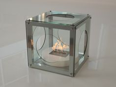 Flammengo Clear Box has the same concept as our Black Box, but its transparent toughened glass adds a sense of purity and elegance to your place. Clear Box, Decor, Interior Design, Furniture, Glass, Interior, Light, Fireplace, Home Decor