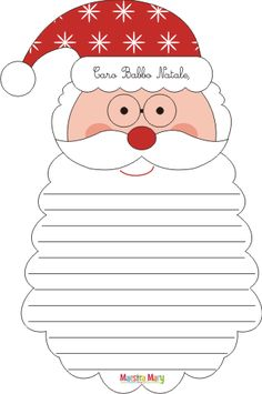 Letterine di Babbo Natale da stampare e ritagliare. #maestramary #letterinedinatale #letterebabbonatale #letterinenataledastampare #natale #attivitànatale Christmas Activities For Kids, Preschool Christmas, Christmas Crafts For Kids, Christmas Colors, Preschool Crafts, Christmas Time, Christmas Decorations, Printable Christmas Coloring Pages, Christmas Printables
