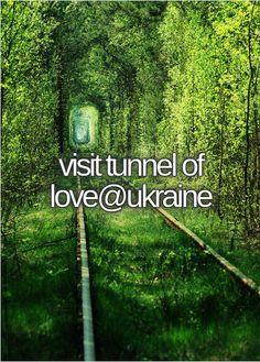 visit tunnel of love@ukraine