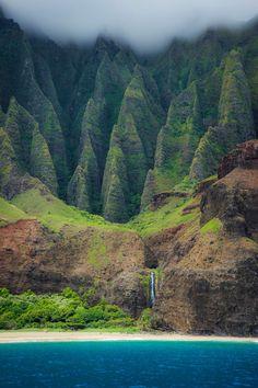Napali Coast, Hawaii, by Marc Leathem