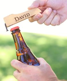 Rustic Personalized Bottle Opener