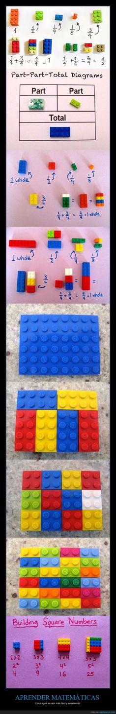 APRENDER MATEMÁTICAS - Con Legos es aún más fácil y entretenido   Gracias a http://www.cuantarazon.com/   Si quieres leer la noticia completa visita: http://www.estoy-aburrido.com/aprender-matematicas-con-legos-es-aun-mas-facil-y-entretenido/