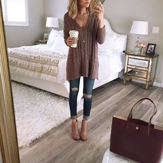 """""""Obsessed with this oversized cable knit sweater and it is currently 40% off. It comes in 4 colors and it is so cozy.  @liketoknow.it www.liketk.it/1Nkdc…"""""""