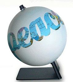 Would love to modify this into a Christmas ornament. ~ peace ~ maps&globe