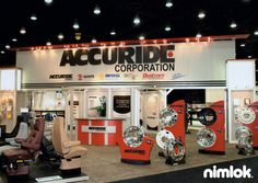 Nimlok specializes in trade show ideas and trade show displays. For Accuride, we designed and built a large-scale trade show booth solution to showcase their brand.