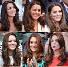 The duchess of Cambridge at Wimbledon 2011-2015