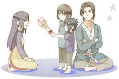 Sasuke, Itachi, Fugaku and Mikoto