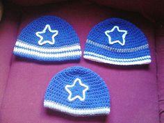 Crochet Dallas Cowboys Beanies - via @Craftsy