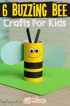 Cute Toilet Paper Roll Bee Craft for Kids crafts for kids for teens to make ideas crafts crafts Bee Crafts For Kids, Spring Crafts For Kids, Summer Crafts, Toddler Crafts, Preschool Crafts, Easy Crafts, Art For Kids, Arts And Crafts, Craft Kids