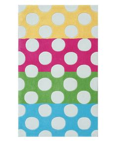 Take a look at this Polka Dot Mania Rug by The Rug Market on #zulily today!