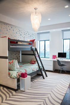 Shop the Look Modern & Contemporary Kids Bedroom Design by HomeDesignRx in Manhattan family home #ad #kidsroom #modern #contemporary #teen #tween #bedroomideas