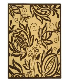 Love this Natural & Brown Keaton Indoor/Outdoor Rug on #zulily! #zulilyfinds