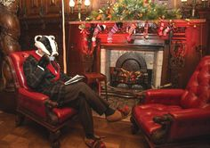 At home with Mr Badger  Photo: Ruth Downing