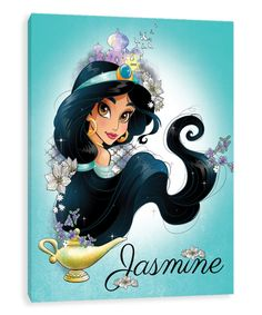 Take a look at this Disney Princess Jasmine Romanticism Gallery-Wrapped Canvas today! Disney Princesse Jasmine, Princess Jasmine Art, Aladdin And Jasmine, Disney Princess Art, Aladdin Princess, Film Disney, Disney Nerd, Arte Disney, Punk Disney