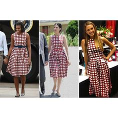 Why This Under-$100 ASOS Dress Is a Hit with Michelle Obama, Huma Abedin, and Jessica Alba Fashionista found on Polyvore