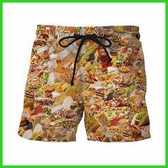 Taco Bell is Life 3D Shorts Delicious Sandwich Prints Short Pants Male Casual Beach Shorts Mens Hip Hop Board Shorts