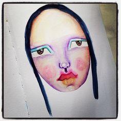 A day of non-stop art making! (I might break for lunch though lunch is good). #mixedmedia #schmincke #stillmanandbirn #portrait #irisimpressionsart #artoninstagram