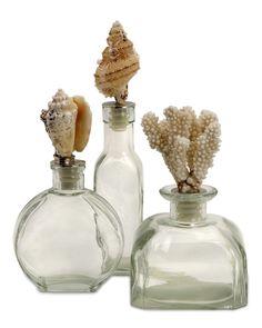 3pc Shell Stopper Glass Bottles is on Rue. Shop it now.