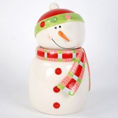 Snowman Cookie Jar  #Kitchen # Christmas Decor