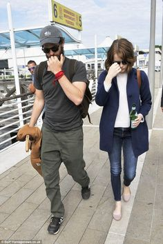 Heading home: Emma Stone and Andrew Garfield were spotted departing Venice, Italy, on Sund...