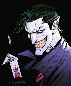 "longlivethebat-universe: ""The Joker by Dan Mora "" Joker Comic, Joker Batman, Batman Art, Der Joker, Joker Und Harley Quinn, Joker Kunst, Joker Drawings, Serato Dj, Univers Dc"