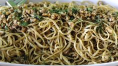 Mario Batali's Linguine  with Walnut Sauce