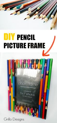 I share how I created this simple and colorful teachers gift - using pencils, glue and a picture frame!