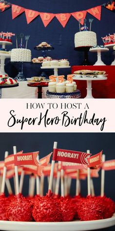 How to Host a Superhero Birthday Party | If your little one loves superheroes, this superhero themed birthday party is a perfect celebration! From decor to desserts, we have you covered! || JennyCookies.com #birthdayparty #superhero #partyideas #jennycookies