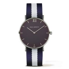PAUL HEWITT Sailor Line Watch Silver Blue Lagoon Navy Blue-White PH-SA-S-Sm-B-NW-20 - Kultatähti.fi verkkokaupasta