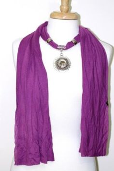 Amazon.com: Deep Sunset Violet Purple Native Tribal Metal Medallion Pendant Fashion Jewelry Scarf - BellaGraciela.com #spring