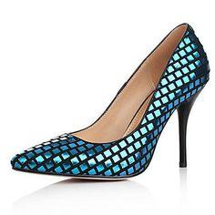 Sheepskin Women's Stiletto Heel Pumps Heels with Sparkling Glitter Shoes (More Colors) - USD $ 69.99