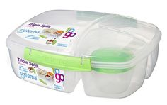 Sistema To Go Lunchbox Triple Split - Limoengroen - 2L