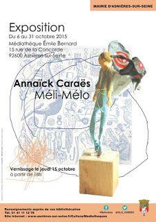 Exposition à la médiathèque Emile Bernard, à Asnières, du 6 au 31 octobre 2015