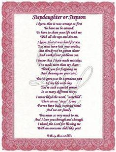 Poem for Stepdaughter From Stepmother  Art Print Original Poem