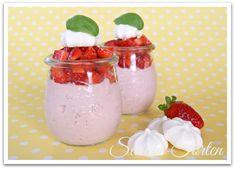 Sarahs Torten und Cupcakes: Ein locker leichtes Sommerdessert: Erdbeermousse mit weißer Schokolade