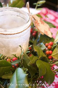 DIY+Iced+Mason+Jar+Candles epsom salts and elmers glue