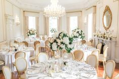 Martina Liana for a Luxurious Wedding at Lartington Hall, Teesdale.  Image by Helen Russell Photography.  Read more: http://bridesupnorth.com/2016/11/01/roses-lace-martina-liana-for-a-luxurious-wedding-at-lartington-hall-stefanie-jason/  #wedding