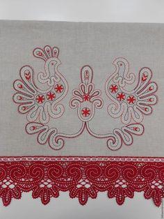 Текстиль, ковры ручной работы. Ярмарка Мастеров - ручная работа. Купить Дорожка на стол. Рушник. Кружева на коклюшках. Handmade. Рушник